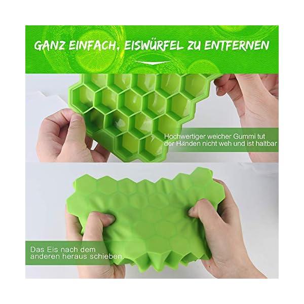 Vassoi per cubetti di ghiaccio Confezione da 2 stampi per cubetti di ghiaccio in silicone per alimenti con coperchio… 3 spesavip