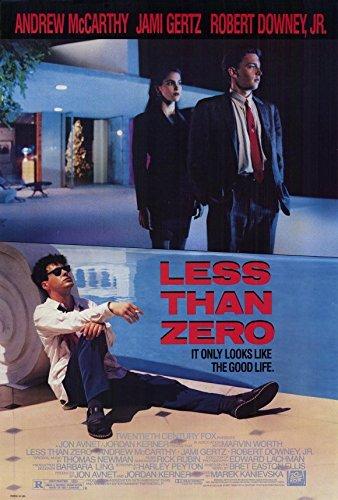 Less Than Zero Poster 27x40 Andrew McCarthy Jami Gertz Robert Downey - Style Downey Jr Robert