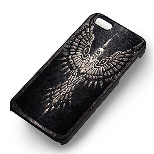Unique Greatshield of the Raven Goddess pour Coque Iphone 5 or Coque Iphone 5S or Coque Iphone 5SE Case (Noir Boîtier en plastique dur) Q2G6DV