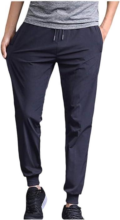 JiaMeng Pantalones de hombre Casual Chino Jogging Pantalones ...