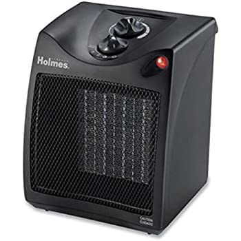 Amazon Com Holmes Compact Ceramic Heater With Thermostat