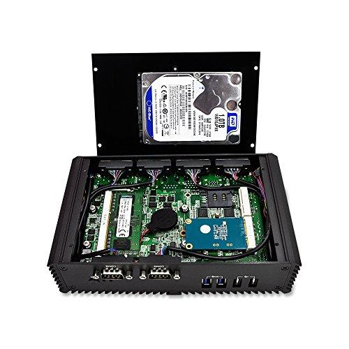 8G ram 128G SSD 300M WIFI Broadwell Dual core 2 HDMI,6 COM,2 LAN,4 USB 3.0,2 USB 2.0,Support windows//Linux OS Fanless media pc Dual Lan 6 COM Mi3215C6 Celeron Processor 3215U 2M Cache 1.70 GHz