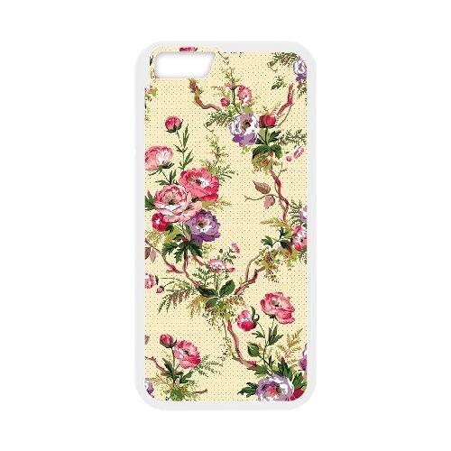 FDXGW536 iPhone 6 4.7 Inch Cell Phone Case-white_Retro Flower (3)