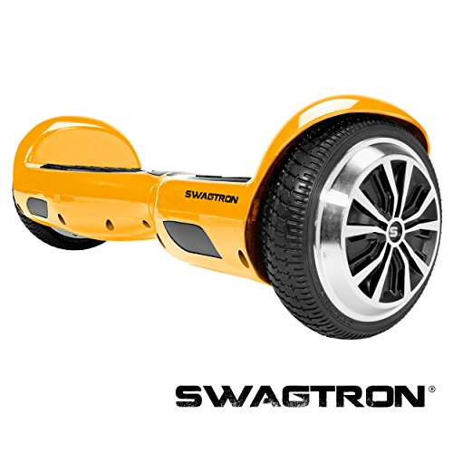 Swagtron T1 - UL 2272 Certified Hoverboard - Electric Self-Balancing Scooter – Your swag personal transporter awaits you. (Gold)