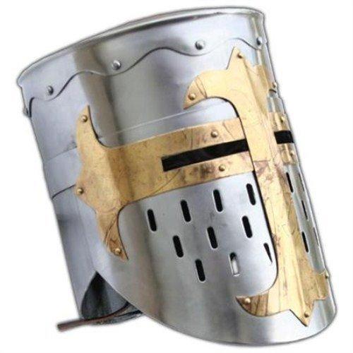 AnNafi Knights Templar Crusader Helmet Medieval Armor]()