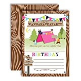 """Best AW Camping Tents - Camping Birthday Party Invitations for Girls, 20 5""""x7"""" Review"""