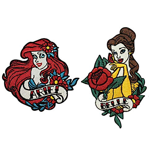 Beauty And The Beast Diy Costumes (Loungefly Disney Ariel & Belle Beauty & The Beast Iron On Patch Set of 2)