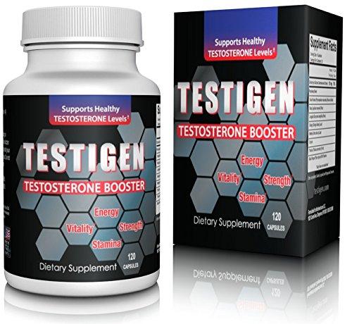 Testigen testostérone Booster- Augmenter la masse musculaire et obtenir Ripped Fast-réduire la fatigue et de puissance lors de vos entraînements - augmenter le désir sexuel et l'endurance-All Natural testostérone Annexe-argent si Non convaincu: Made in US