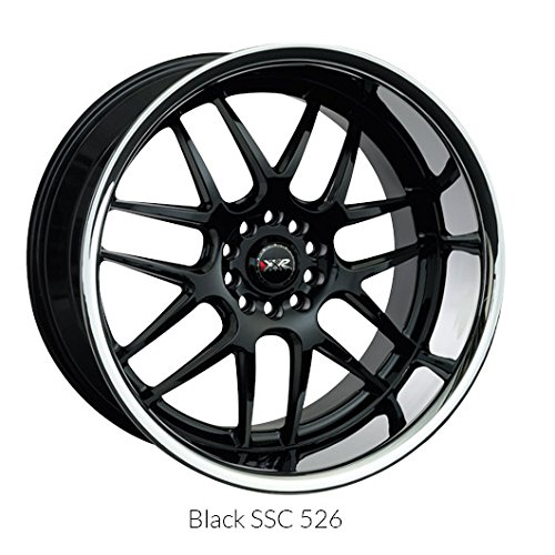 XXR Wheels 526 Black Wheel with Painted Finish and SS Chrome Lip (20x9