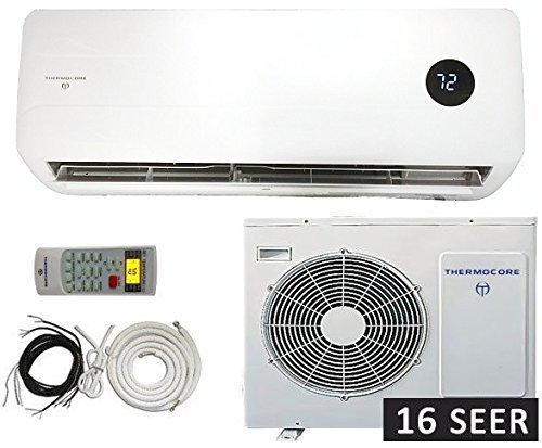 thermocore systems 30000 btu 15 5 seer wall mount mini split inverter air conditioner with heat