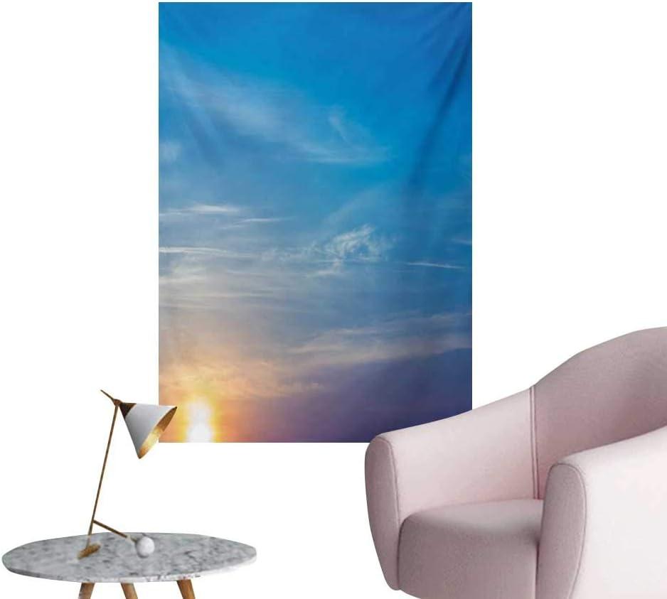 Amazon Com Anzhutwelve Yellow And Blue Wallpaper Sunrise Blurry