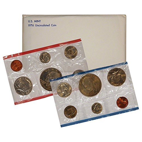 1976 Various Mint Marks P & D United States US Mint 12 coin Set With Bicentennial Commeratives Uncirculated A Mark Coins