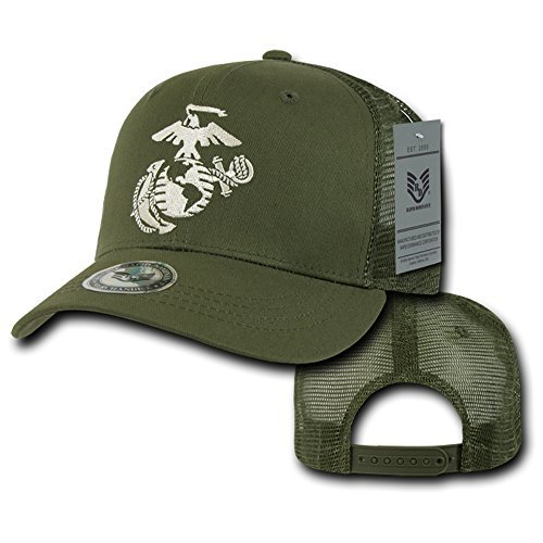 Rapid Dominance Officially Licensed US Marine Corps Embroidered Mesh Back Cap - Olive
