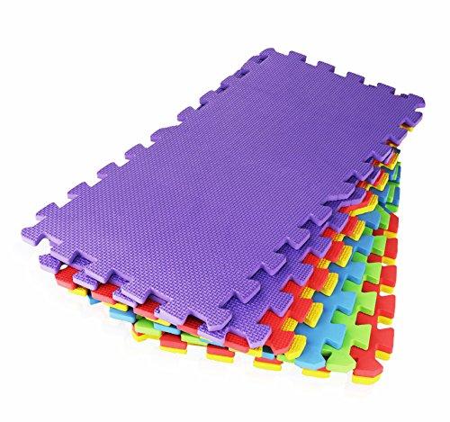 16 Piece X Large Foam Soft Tile Mat Safe Mat Interlocking