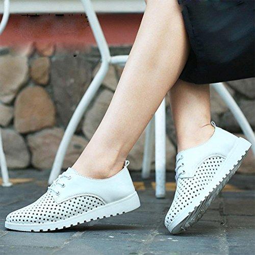 casuali suola White morbide single donna scarpe con respirabili pizzo scarpe vuote scarpe scarpe sportive scarpe comode da avxRqqwE