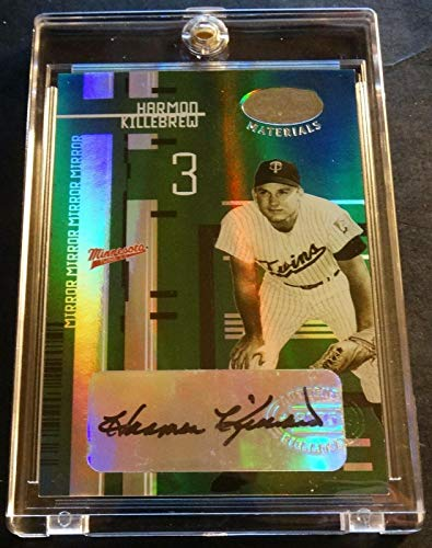 2005 LEAF CERTIFIED EMERALD AUTO HARMON KILLEBREW TWINS GREAT 2/5 RARE (403) (Single Emerald Rare Card)