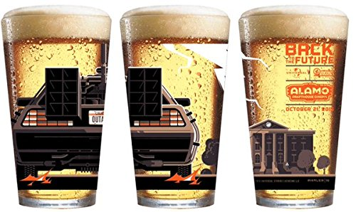 Back To The Future Ii Pint Glass Tumbler   Officially Licensed  5 3 4  Tall