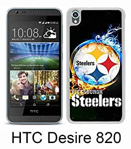 Beautiful And Unique Designed Case For HTC Desire 820 With Pittsburgh Steelers 2 white Phone Case