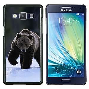 YiPhone /// Prima de resorte delgada de la cubierta del caso de Shell Armor - El oso grizzly invierno - Samsung Galaxy A5 A5000