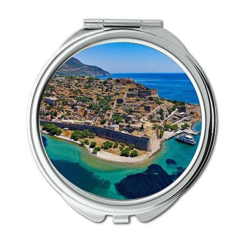Mirror,Compact Mirror,aerial view architecture beach,Pocket Mirror,portable -