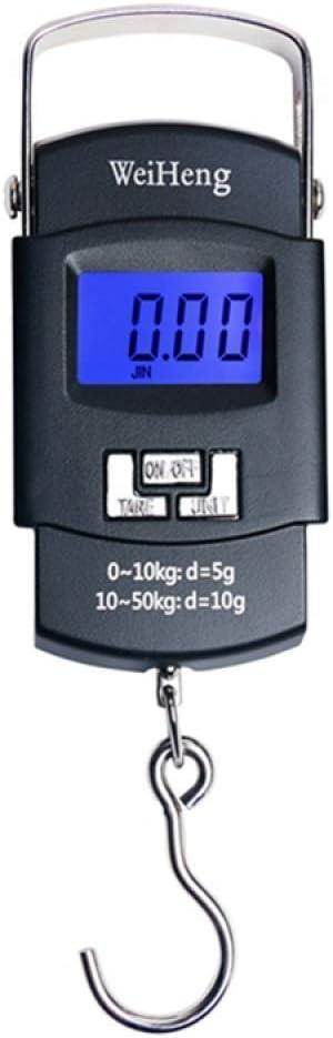 50Kg / 110Lb 10G Balanza Digital Portátil Electrónica Gancho para Colgar Equipaje De Viaje De Pesca Báscula para Equilibrio De Equipaje De Steelyard