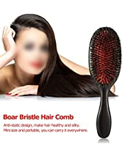 ETbotu Professional Hair Brush Comb Anti-static Boar Bristle Hair Brush Hairdressing Tool
