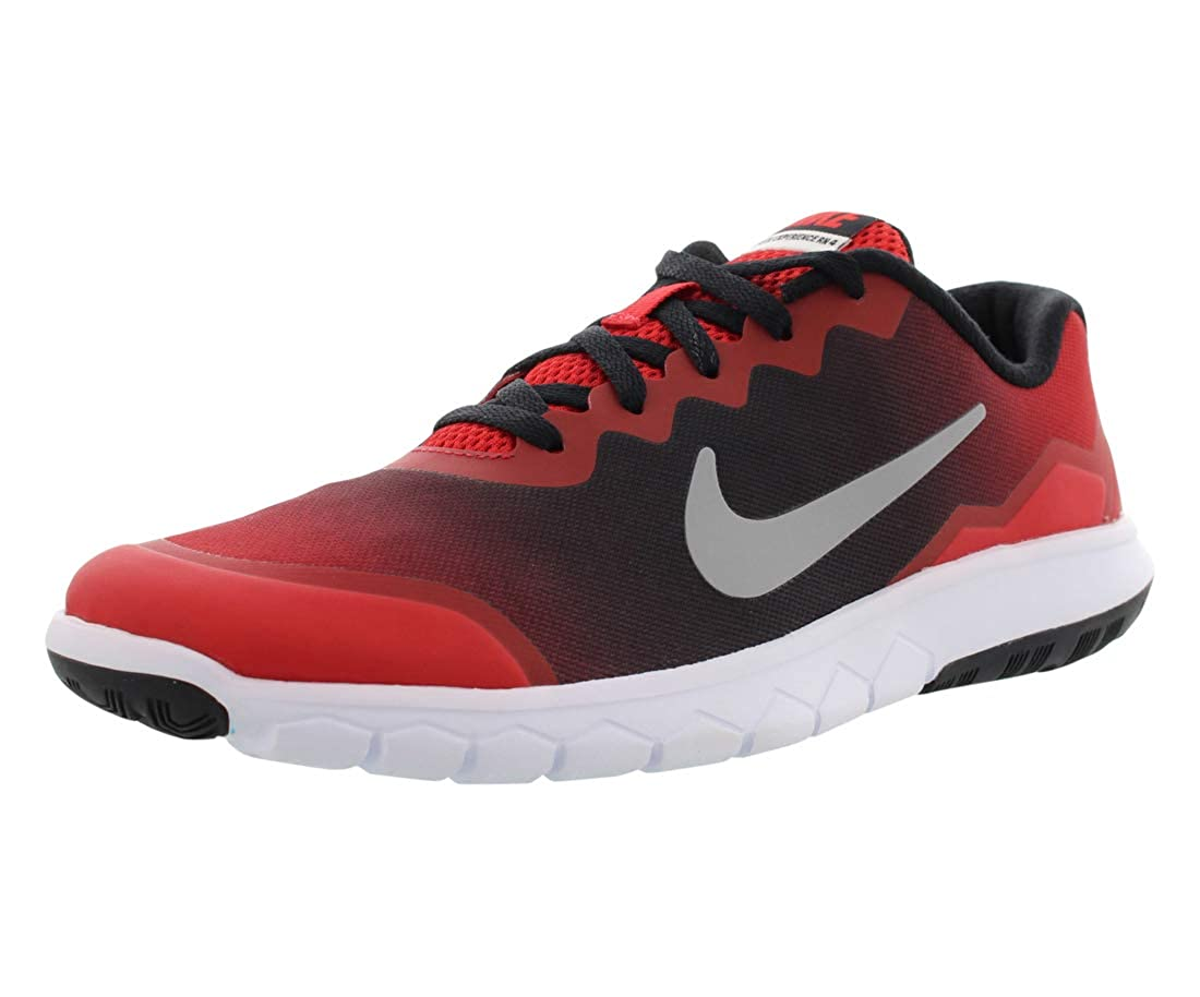 Nike Flex Experience 4 Print Kids Running Shoe 3 5y 7y University Red Black White Flat Silver 7 Big Kid M Amazon In Shoes Handbags
