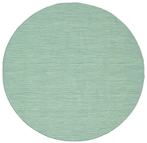 Kilim loom - Mint Green rug Ø 6'7