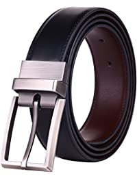 Men's Dress Belt Leather Reversible 1.25