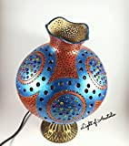 Handmade Gourd Lamp, Desk Lamp, Table Lights, Wood, Turkish Lights, Bohemian Decor, Boho Home Decor, French Country, Furniture, Eclectic Furniture, Birthday Gift, Contemporary Decoration, Handmade