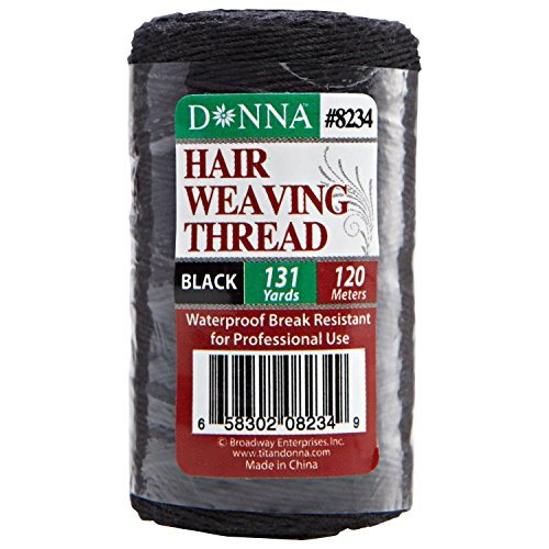 Donna Black 131 Yard Hair Weaving Thread Black