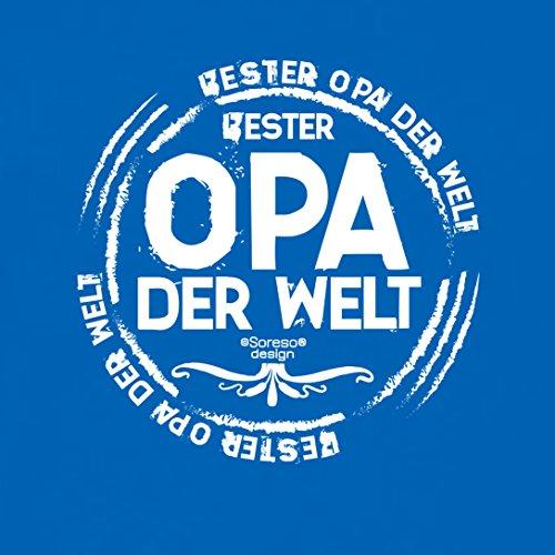 Großvater Fun-T-shirt als Top Geschenk mit GRATIS Urkunde - Bester Opa der Welt Farbe: royal-blau Gr: 4XL