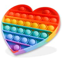 DRST Pop It Rainbow Heart, Push Pop Bubble Fidget Sensory Toy, Stress Relief and Anxiety Bubble Squeeze Toy, Autism…