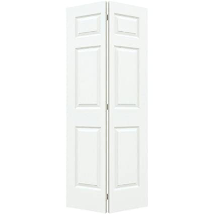 Ordinaire Colonist White Painted Textured Molded Composite MDF Interior Closet