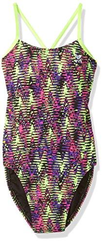 TYR Damen Waikiki cutoutfit Schwimmen One Piece Yellow/Purple