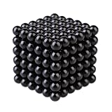 Asenart Magnet Balls 3d Puzzle Magnetic Magic Ball Office Decompression Toys DIY Travel Toys Sculpture Desk Toy for Intelligence and Patience Development (216 pack) -black