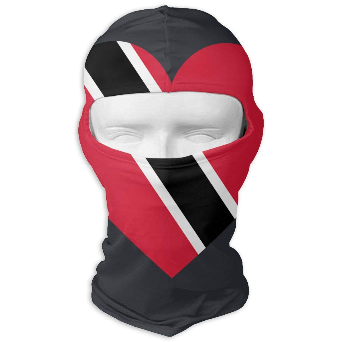 Xdevrbk Love Trinidad and Tobago Flag Ski Mask Sun UV Protection Dust Protection Wind-Resistant Face Mask for Running Cycling Fishing Multicolor4