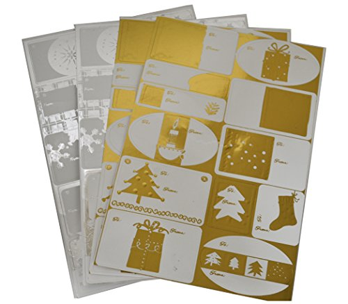 Christmas Gift Tags 48 Gold and Silver Foil Xmas Gift Tags Looks Great on Gift Boxes, Wrapping Paper, Gift Bags, Tissue Paper