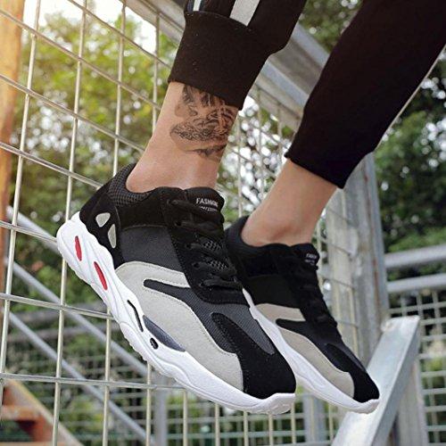 Hatop Mens Ultralätta Andas Mesh Street Sport Promenadskor Tillfälliga Gymnastikskor Svart