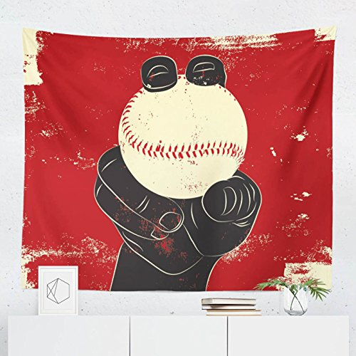Baseball Tapestry - Fastball Ball Pitcher Wall Tapestries Hanging Décor Bedroom Dorm College Living Room Home Art Print Decoration Decorative - Printed in the USA - Small Medium Large (Yankees Pitcher)