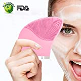 Sonic Silicone Facial Cleansing Brush and Massager Vibrating Facial Cleanser Rechargeable, Waterproof Facial Cleansing Brush System