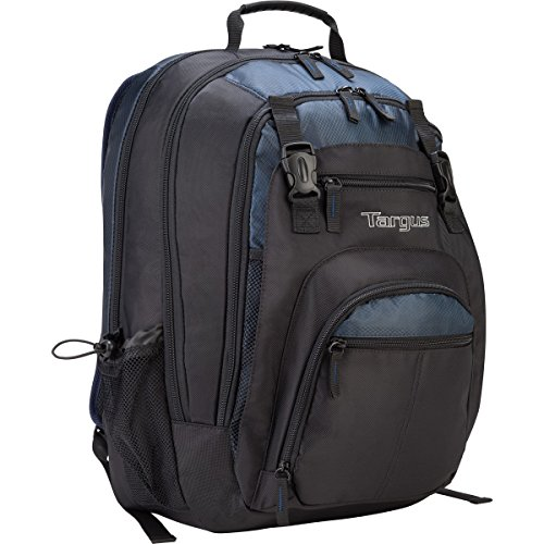 Targus XL Travel and Business Backpack for 17-Inch Laptop, Large Commuter with Black/Blue Accents (TXL617)