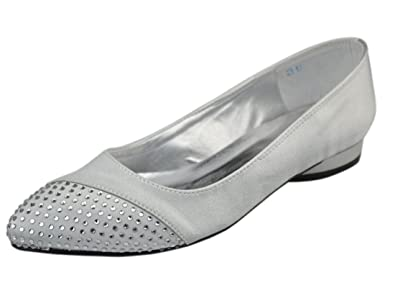 Amazon Com Minishion Womens Low Heel Satin Evening Party Bridal