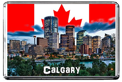 GIFTSCITY D022 CALGARY FRIDGE MAGNET CANADA TRAVEL PHOTO REFRIGERATOR MAGNET