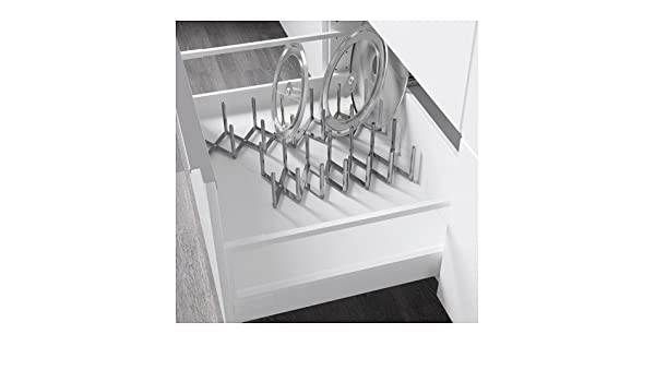 Amazon.com: New Stainless Steel Pot Lid Plate Kitchen Organizer Drawer or Free Stand: Kitchen & Dining