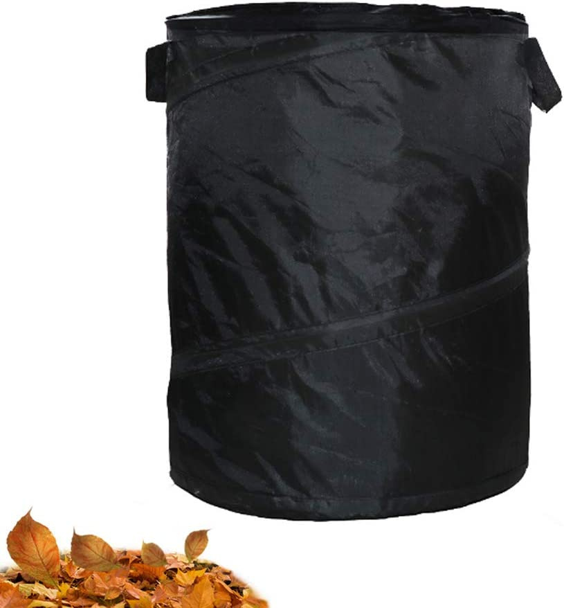 Gardening Pop Up Bag, Spring Bucket, Car Trash Can,Reusable Yard Waste Bag, Collapsible Container with Spring, Garden Lawn and Leaf Bag, Collapsible Canvas Bucket. Collapsible Pop-up Water Proof Can