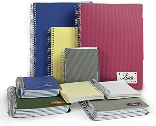 Mintra Corporation Notizbuch Lines, 150 Blatt, DIN A4 & DIN A5 & DIN A6, liniert oder kariert, PP-Umschlag, Spiralbindung, Spiral-Notizbuch mit Hardcover (DIN A5 - kariert, blau)