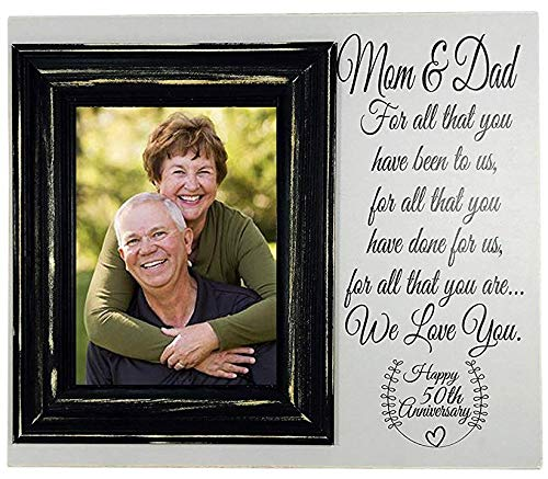 50th Anniversary Picture Frame - Madi Kay Designs 50th Wood Photo for Parents 12