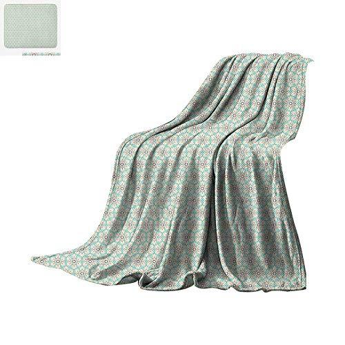(Traditional Lightweight Blanket Retro Oriental Mosaic Triangles Mosaic Stars Turkish Ethnic Bohemian Design Velvet Plush Throw Blanket 60