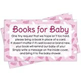 Books for Baby Shower Request Cards - Pink Girl Theme...